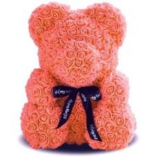 Мишка из роз 40см (оранжевая)