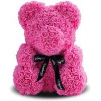 Мишка из роз 40см (розовая)