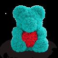 Мишки из роз с сердцем